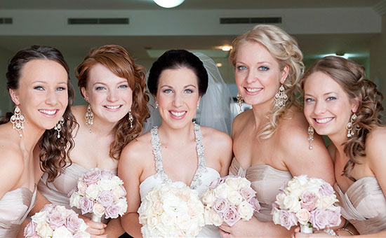 Bridal And Bridesmaid Curly Hairstyles