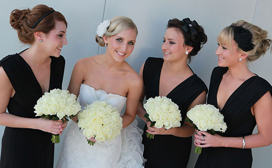 Bridal And Bridesmaid Updos