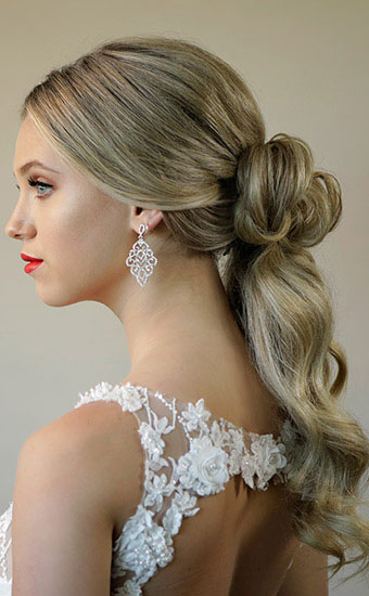 Hair Knot Bridal Blonde