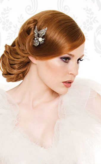 Wedding Hairstyles Vintage Wedding Upstyle
