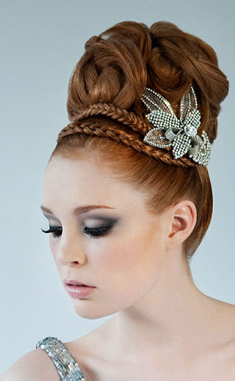 Redhead Upstyle Silver Wedding Makeup